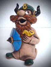 Cerámica Figura Humeante Fumador Vikingos 14cm colores hecho a mano 40441