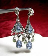 Sparkly Gems Dangling Earrings Avon Chandelier Costume Multi Stone