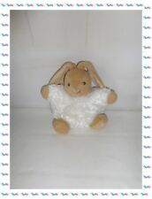 T - Doudou Lapin  Boule Patapouf  Blanc Beige  Collection Fur  Kaloo