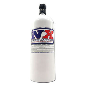 "Nitrous Express 15 Pound Bottle With Lightning 500 Valve 6.89"" Dia x 26.69"" Tall"