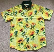 NEW - Licensed Cricket Australia Hawaiian Sunflower Shirt - Mens Size L