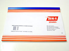 BSA A65 A50 650 500 Replacement Parts List spares manual book 1968 00-5137