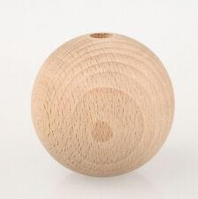 10 x Buche Holzkugeln 50mm Durchmesser 8mm Halbbohrung
