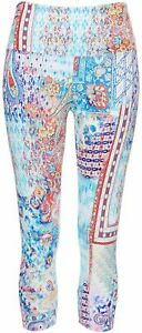 Khakis & Co Womens Paisley Print Capri Leggings