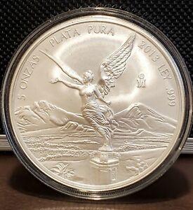 Libertad 2013 BU 5oz silver onza Mexico coin