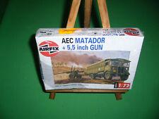 Maquette AIRFIX 1/72 AEC MATADOR + 5,5 inch GUN