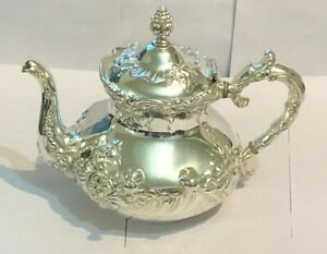 Antique silver plate teapot hand made