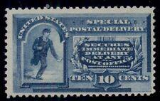 Us #E2 10¢ blue, unused no gum, rich color, Scott $475.00