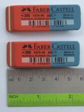 Brand NEW Faber-Castell Red & Blue Pencil Ink Eraser 16pcs