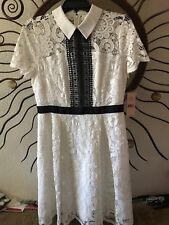 White Lace Nanette Lepore Collar Dress NWT Size 6 $170