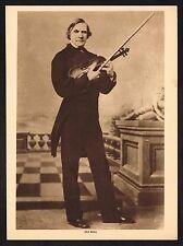 1910's Old Vintage Old Bull Violinist Portrait Violin Photo Gravure Print