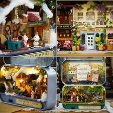 DIY Theatre Box Dollhouse Miniature Project Kits Toy-Happiness Street Corner