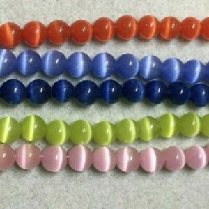 Cats eye beads 8mm, colour choice, jewellery making, UK seller fast shipping