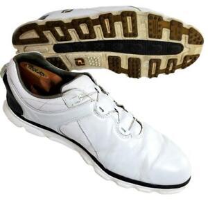 FootJoy BOA Men's 12 Spikeless Golf Shoe Pro SL 53596 White Self Closing