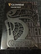 GUINNESS HOT PLATE CAST IRON METAL TOUCAN TRIVET NEW