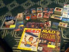 A HUGE FAMOUS TV SHOWS OLD TRADING CARDS SET AND CARTOON COLLECTOR MAGAZINES