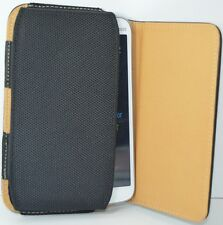 Premium Leather Belt Pouch Magnetic Flip For Samsung Galaxy S Duos 2 Black