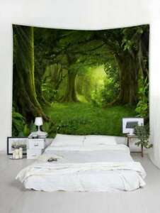 Forest Pattern Tapestry Wall Hanging Mandala Polyester Tapesty for Bedroom Decor