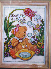 """Teddy Blowing Bubbles """"Special Bear"""" Counted Cross Stitch Kit Tiny Teddy Fairy"""