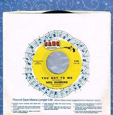 NEIL DIAMOND You Got To Me b/w Someday Baby 1967 45 RPM Bang B-540 Vinyl VG++