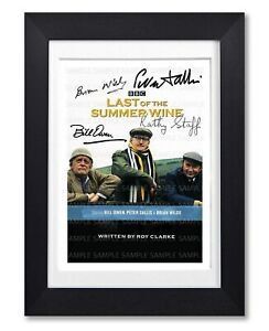 LAST OF THE SUMMER WINE CAST SIGNED POSTER SERIES PRINT PHOTO AUTOGRAPH GIFT