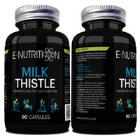 MILK THISTLE *90 CAPSULES*  *INCREDIBLY POWERFUL LIVER DETOX* E-NUTRITION