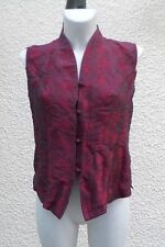 Haut Style Chinois Soie Ton Rouge Foncé Taille 2
