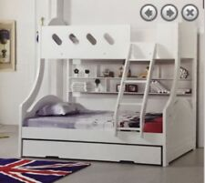 Double / Single bunk white with Pullout trundle NEW Kids Very Solid