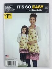 Simplicity A8207 It's So Easy Apron Child and Misses Sewing Pattern Uncut