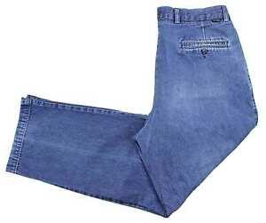 Dockers Pleated Denim Jeans 33x29 Regular Straight Medium Cotton Button Pockets