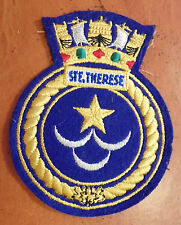 LARGE Canada Canadian Armed Forces Navy HMCS STE. THERESE badge patch crest