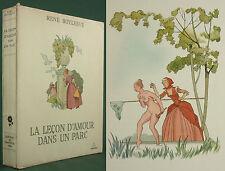 BOYLESVE - LA LECON D'AMOUR DANS UN PARC - 1949 N° VELIN - ILL. POUZET - Erotica