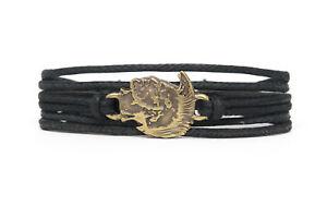 Apache Fashion Style Jewelry Cute Leather Charm Bracelet Bangle DIM256