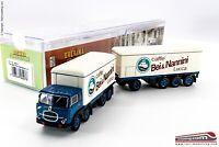 BREKINA 58427 - H0 1:87 - Camion con rimorchio isotermico Fiat 690 Millepiedi ba