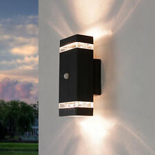 Außenleuchte mit Bewegungsmelder Up Down Aluminium in Anthrazit Wandlampe außen