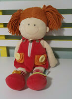 RUSS DOLL BUTTONS  LEARN HOW TO DRESS TOY 40CM RED DRESS AND SHOES