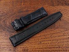 IWC Strap Band Blu Scuro Pelle Coccodrillo Novità 20mm Portoghese Artigianale