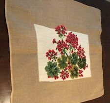 Floral Hand EmbroideredNeedlepoint Canvas size 26 x 26�