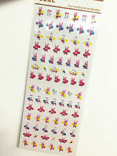 1 x sheet Happy Rabbit stickers scrapbook DIY Cute Mini  #101