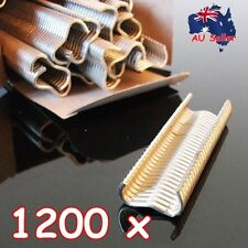 1200 x Heavy Duty Hog Ring 17mm M Clips Staples Chicken Mesh Cage Wire Fencing