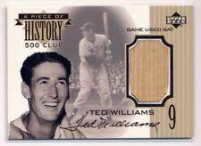 TED WILLIAMS 1999 Upper Deck A Piece of History 500 HR Club BAT RED SOX HOF
