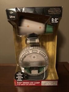 "Disney Star Wars 12"" D-O Droid LED Lamp Desk Night Touch Dimmer USB Power NEW"