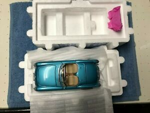 FRANKLIN MINT 1:24 1955 BLUE CHEVROLET CHEVY CORVETTE IN ORIGINAL BOX