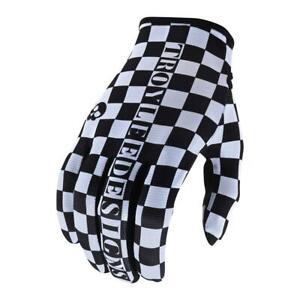 Troy Lee Designs Flowline Gloves Checker White/Black Large