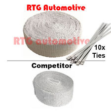 10M HEAVY DUTY Exhaust Heat Wrap + 10x Stainless Steel Clips Motorcycle Car