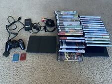 Playstation 2 PS2 Slim SCPH-90001 console controller bundle 33 games TESTED