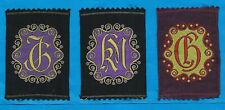 TURMAC TOBACCO WOVEN SILK ILLUSTRATED MONOGRAMS BLACK / PURPLE SILKS 3