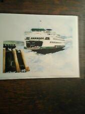 M.V.TACOMA GREETING CARD WASHINGTON STATE FERRIES