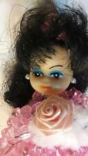 vintage handmade beaded safety pin doll cute birthday  cake topper