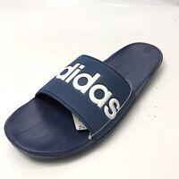 ADIDAS Men's 13 Sandals Blue Spellout NEW